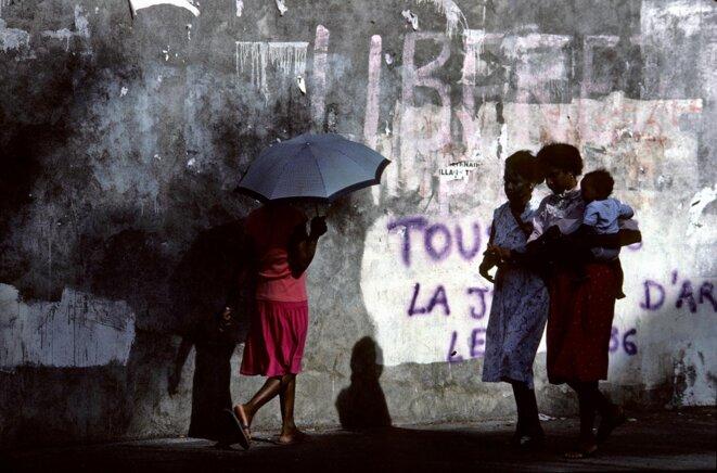 A Saint-Denis de la Réunion, en 2021. © Photo Rosine Mazin / Aurimages via AFP