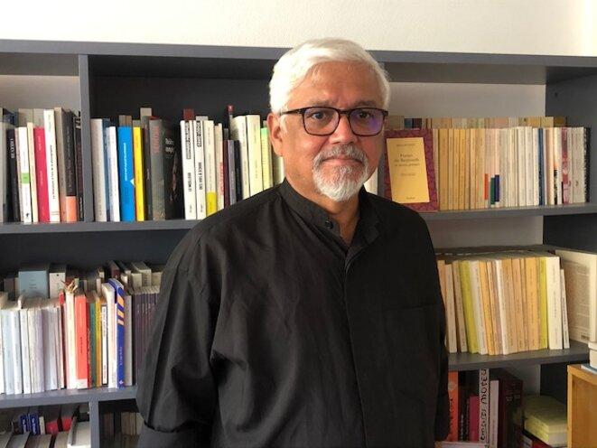 Amitav Ghosh, à Paris, le 2 septembre 2021 (JL).