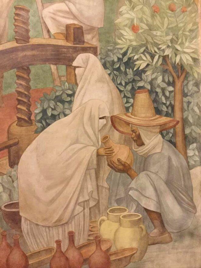 Fresque de Pierre-Henri Ducos de La Haille, la Porte Dorée, Cité de l'Immigration, 1931 [Ph. YF]