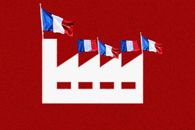 L'État peut, pour ses propres commandes, favoriser le «made in France». © Illustration Sébastien Calvet / Mediapart