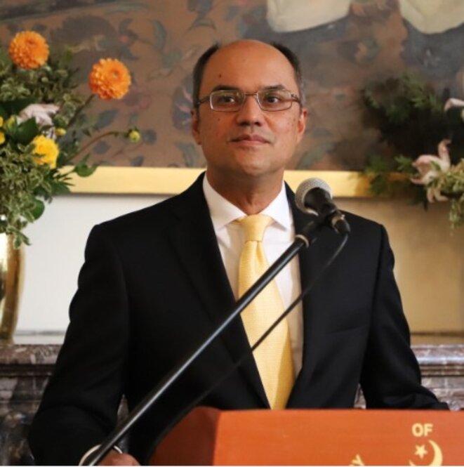 M. Muhammad Amjad Aziz Qazi, chargé d'affaires de l'ambassade du Pakistan à Paris