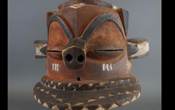Masque tete de cochon © Drouot