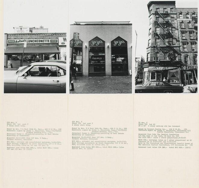 La seule note de bas de page de l'ouvrage concerne cette oeuvre classique d'Hans Haacke en 1971