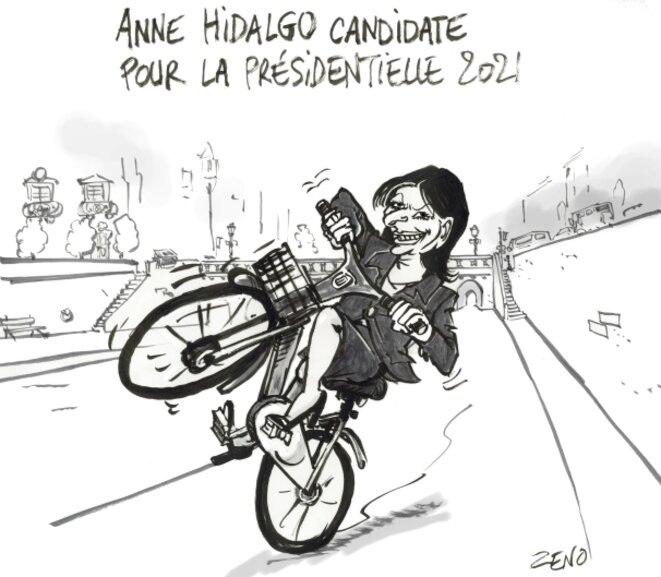 Anne Hidalgo Officialise sa candidature pour la présidentielle 2021 © zeno