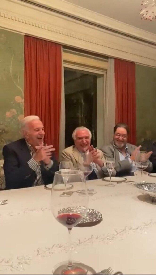 Naji Nahas, Michel Temer, Antônio Carlos Pereira. © DR