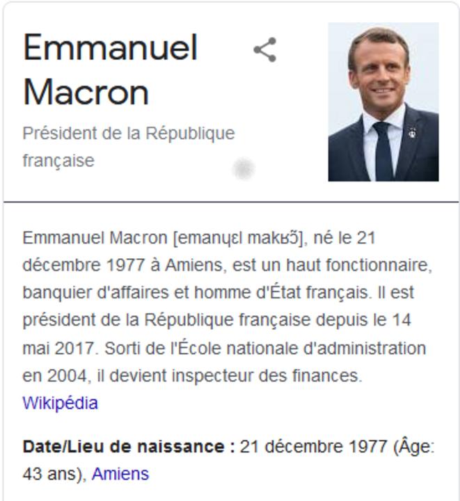 Macron, bientôt la crise de la quarantaine © Wikipédia