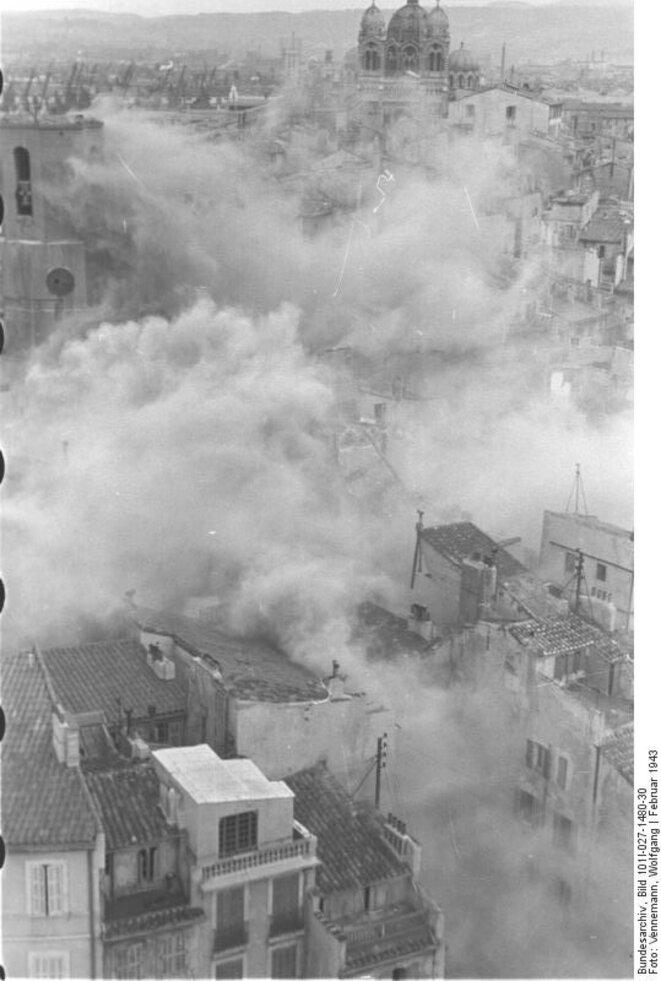 Destruction du quartier de Marseille le 1er février 1943