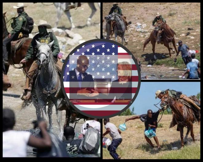 La mémoire sénile de l'esclavage © Montage Erno Renoncourt  / Photos Omar Ornelas, El Paso Times