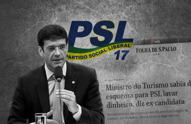 """Marcelo Henrique Teixeira Dias, dit """"Marcelo Álvaro Antônio"""", ex-député fédéral, de l'Etat du Minas Gerais, du parti d'extrême droite PSL, organisateur du voyage électoral de Jair Bolsonaro à Juiz de Fora le 6/9/18. © Instituto Liberal"""