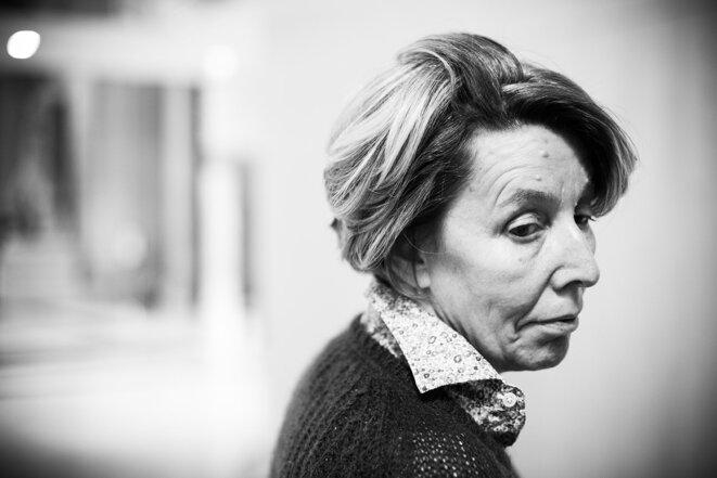 Nadine Ribet Reinhart au Palais de justice de Paris, le 22 septembre 2021. © Photo Sébastien Calvet / Mediapart