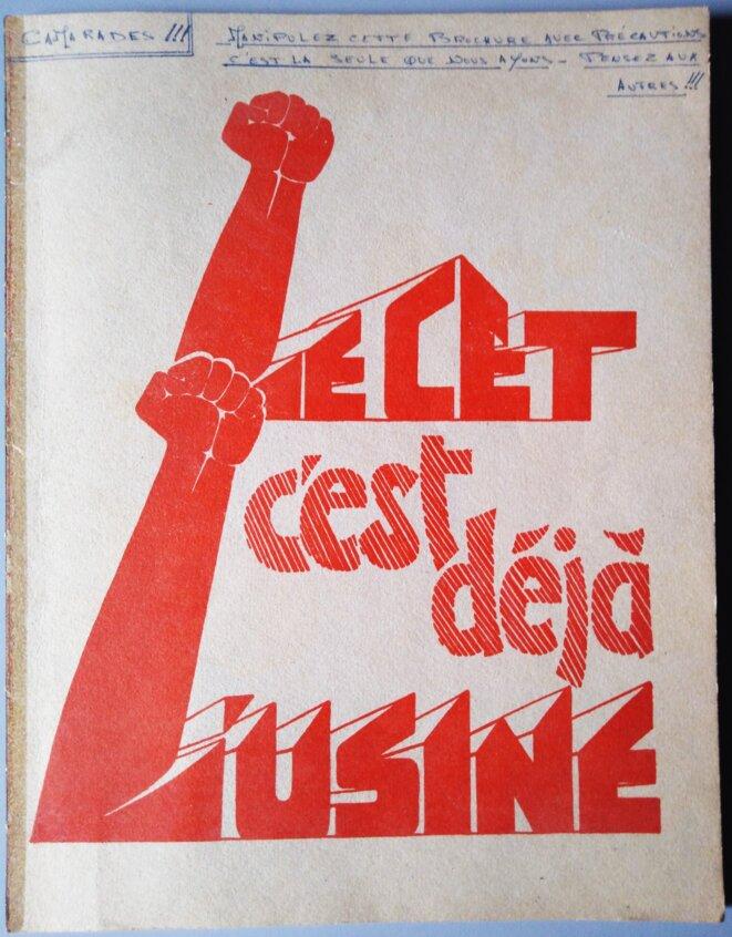 """Brochure """"Le CET c'est déjà l'usine"""", 1972 © FACL"""