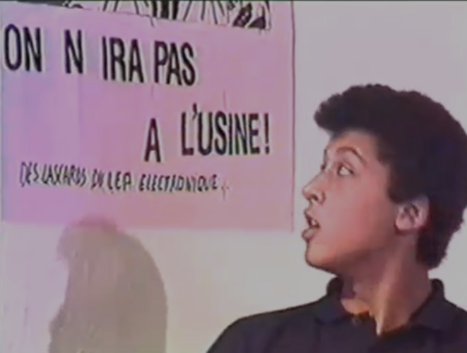 Les lascars du LEP électronique, film de 1986 (détail)