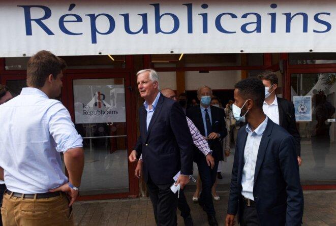 Michel Barnier à La Baule fin août 2021. © Sebastien SALOM-GOMIS / AFP