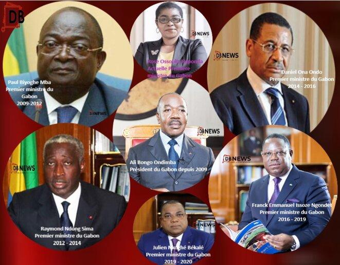 Gabon, les premiers ministres d'Ali BONGO Ondimba en 12 ans – Paul Biyoghe Mba- Raymond Ndong Sima- Daniel Ona Ondo- Franck Emmanuel Issoze Ngondet- Julien Nkoghé Békalé - et aujourd'hui, Rose Christiane Ossouka Raponda.