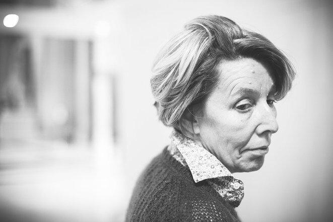 Nadine Ribet-Reinhart, whose son Valentin died in the shooting attack at the Bataclan concert hall. © Photo Sébastien Calvet / Mediapart