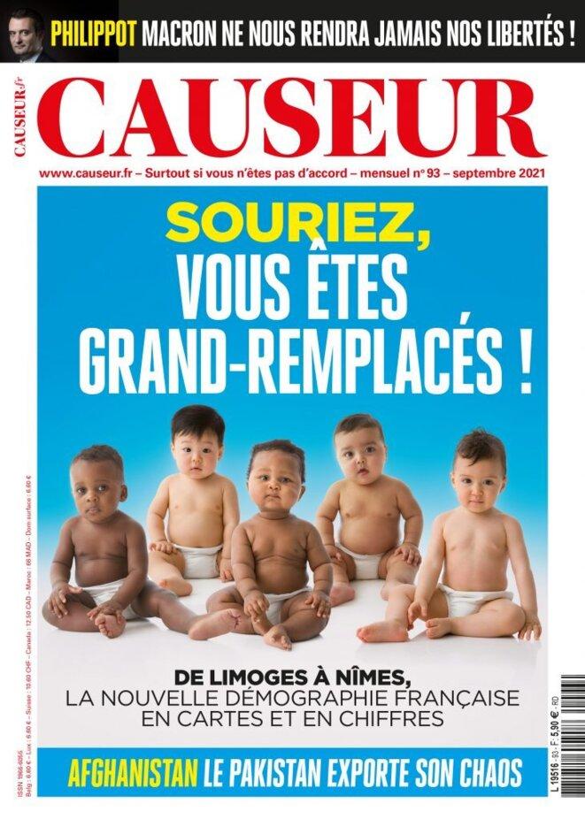 Causeur, couverture du 8 septembre 2021.