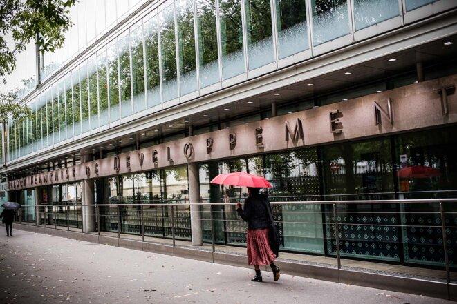 Au siège de l'Agence française de développement, à Paris, le 27 septembre 2021. © Sébastien Calvet / Mediapart