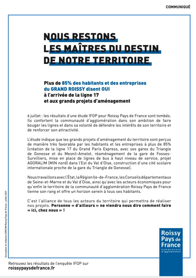 Figure 8 - Publicité de l'agglomération Roissy-Pays de France © CARPF