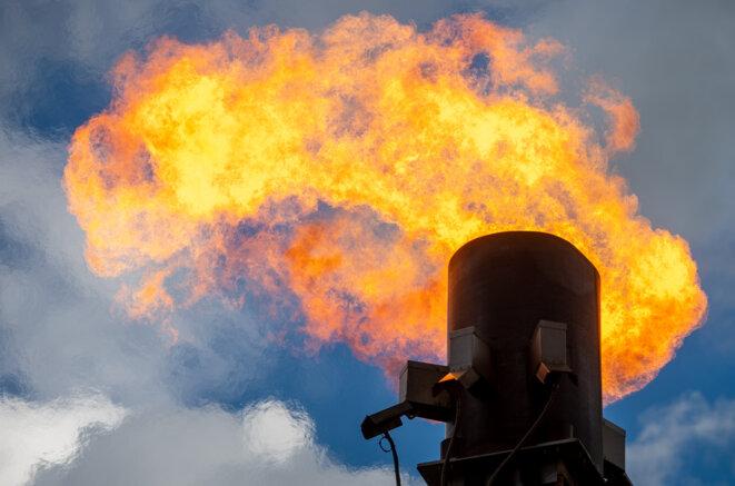 Opération de torchage sur un gazoduc en Allemagne © Photo Hendrik Schmidt / dpa via AFP
