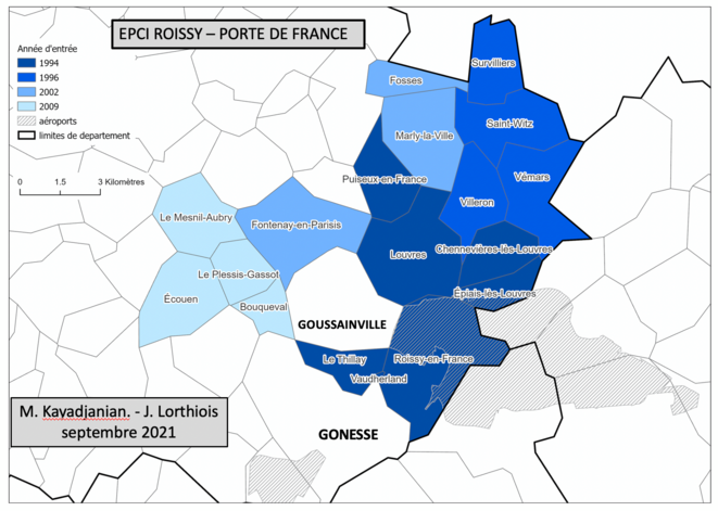 Figure 1 Constitution de l'EPCI Roissy-Porte de France © M. Kajadjanian/ J. Lorthiois
