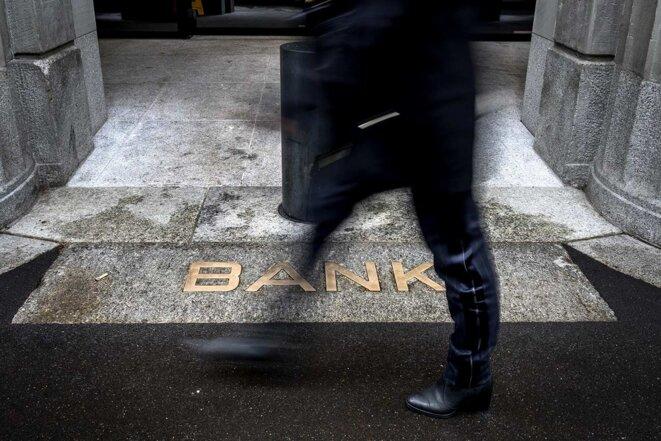 Dans le quartier des banques à Zurich, en Suisse, en 2019. © Fabrice Coffrini / AFP