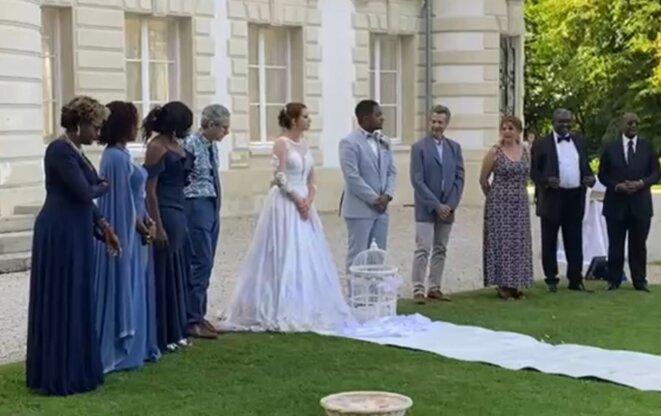 Liliane Massala, l'Ambassadeur du Gabon en France, a marié son fils Antony -  Source : @DBNEWS