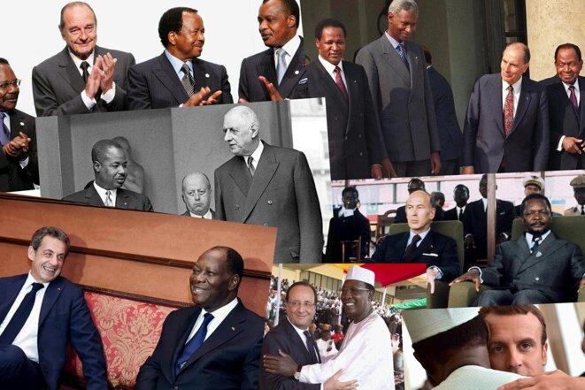 La «Françafrique» est vraiment un système de domination bien vivant, malgré ses mutations. © Photomontage Mediapart avec AFP