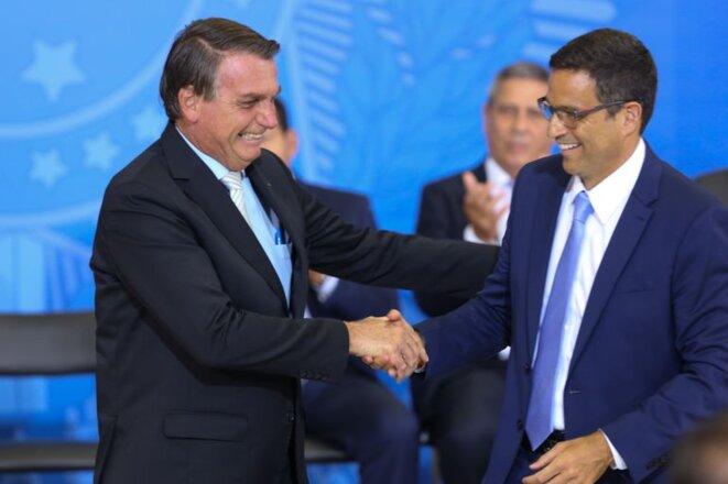 Jair Bolsonaro et Roberto Campos Neto, à Brasilia  (archives) © Fabio Rodrigues Pozzebom / Agência Brasil EBC