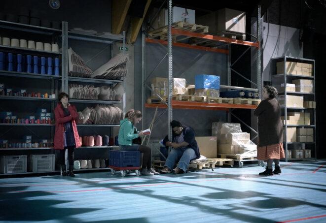 7 minutes de Stefano Massini, mis en scène de Maëlle Poésy, Comédie-Française, Théâtre du Vieux-Colombier © Vincent Pontet, collection Comédie Française