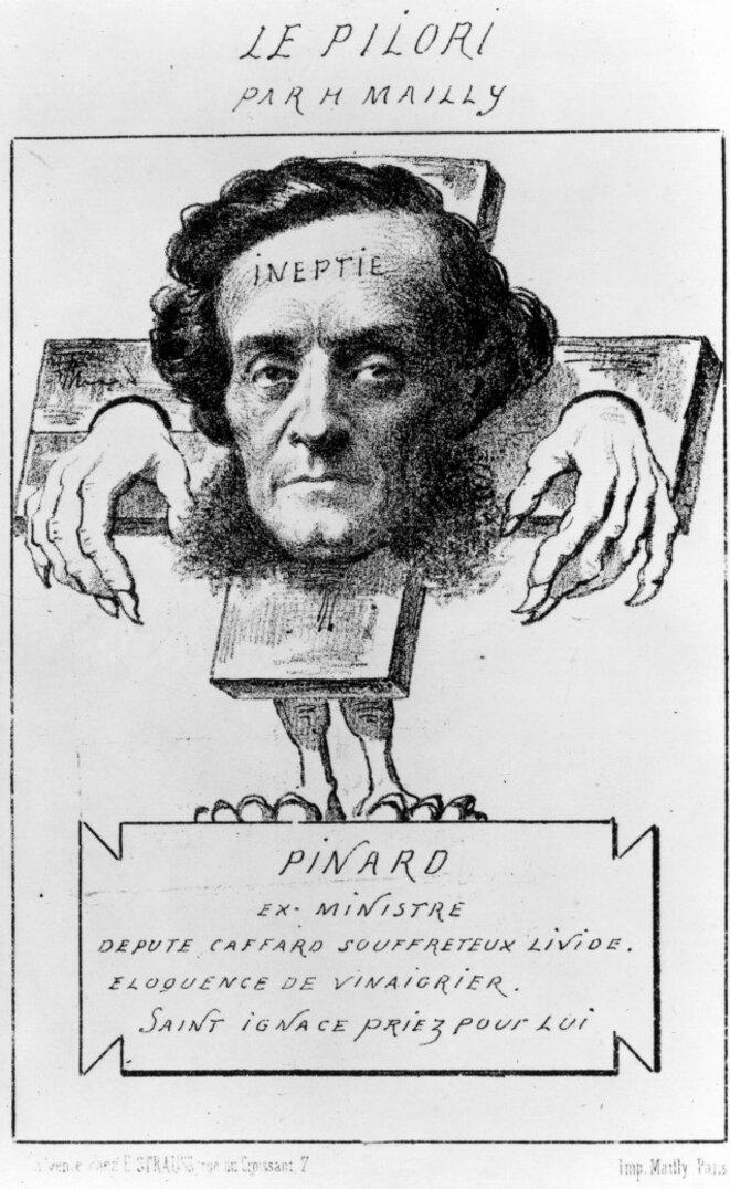 1857 - Caricature d'Ernest Pinard, procureur contre Flaubert