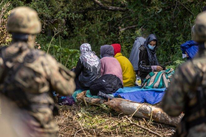 La famille de migrants © Wojtek Radwanski / APP