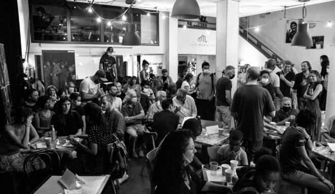 Une soixantaine de personnes étaient présentes lors de ce test du 1er juillet © MORGAN BOURDEAU / Urban Prod