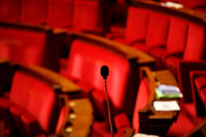 A l'Assemblée nationale. © Photo Sébastien Calvet / Mediapart