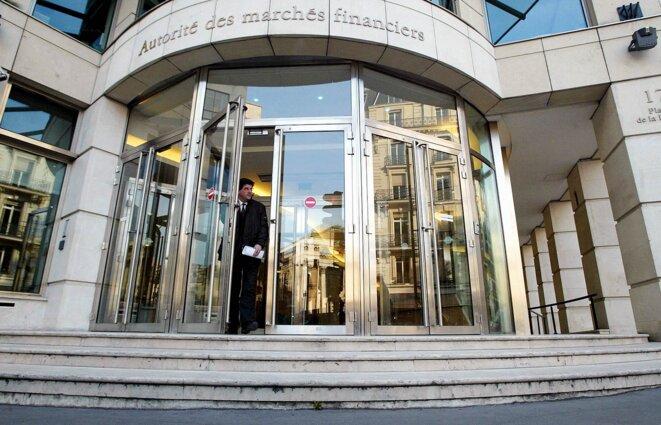 Le siège de l'Autorité des marchés financiers à Paris. © Photo Thomas Coex / AFP