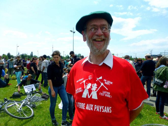 24 mai 2014 – lors de la mobilisation mondiale contre Monsanto, ici à Strasbourg © photo Christo