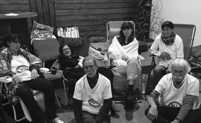 Novembre 2018 – Pierre Rosenzweig a participé à la grève de la faim aux côtés de plusieurs autres militants anti-GCO pour réclamer un moratoire et l'arrêt des travaux du GCO. Une grève qui durera un mois sans la moindre réaction du gouvernement, ni d'Emmanuel Macron qui présent le 4 novembre à Strasbourg, refusera de rencontrer personnellement les grévistes de la faim © GCO NON MERCI