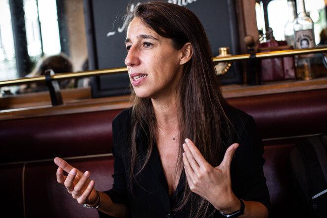 Réjane Sénac à Paris, en octobre 2021. © Photo Sébastien Calvet / Mediapart
