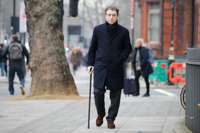 Alexandre Djouhri, en janvier 2019, à Londres. © Photo Tolga Akmen / AFP