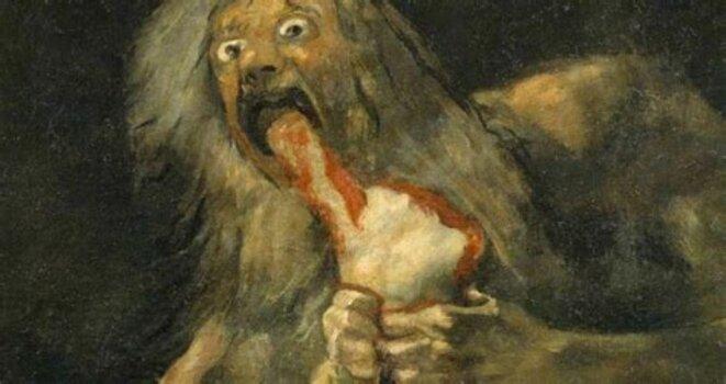 Francisco de Goya - Saturno devorando a un hijo