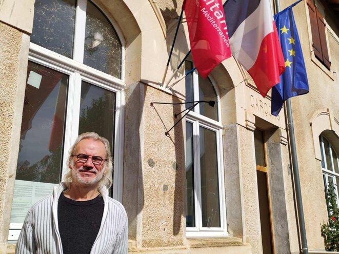 Dominique Legresy, maire de la commune rurale de Corn dans le Lot, en octobre 2021. © Photo Nicolas Cheviron pour Mediapart