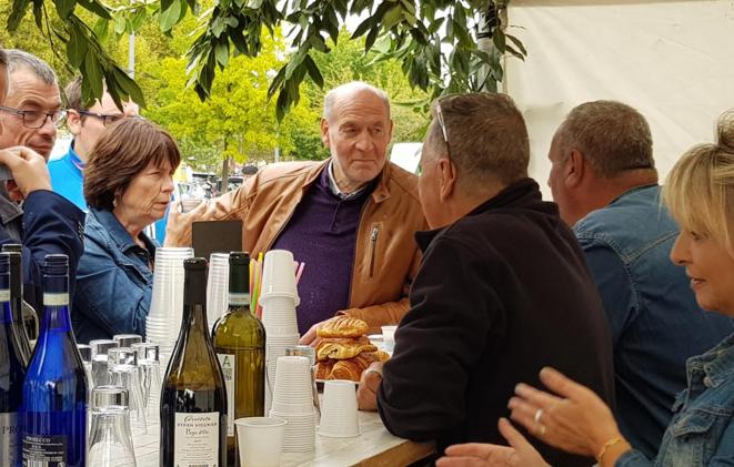 Jean-Jacques Bridey (au milieu) en septembre 2018. © Facebook/Jean-Jacques Bridey