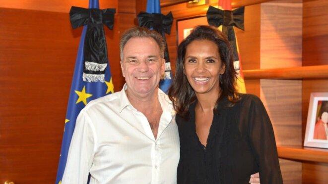 Le 7 octobre, Renaud Muselier célèbre sur son compte Twitter la nouvelle ambassadrice régionale, Karine Le Marchand. © Compte Twitter de Renaud Muselier