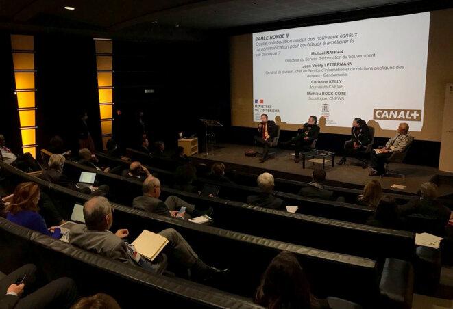 Lors de la rencontre organisée par l'IHEMI dans les locaux de Canal+. © Photo IHEMI