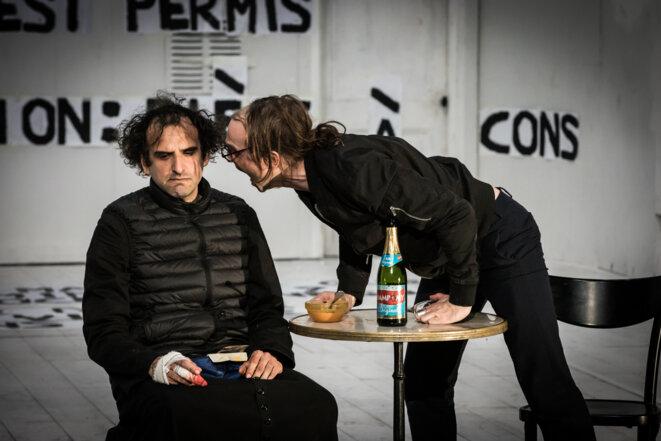 "Scène des"" Frères Karamazov"" © Simon Gosselin"
