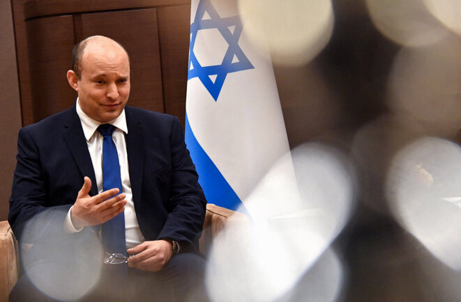 Le premier ministre israélien Naftali Bennett. © Photo Yevgeny Biyatov / Spoutnik / AFP
