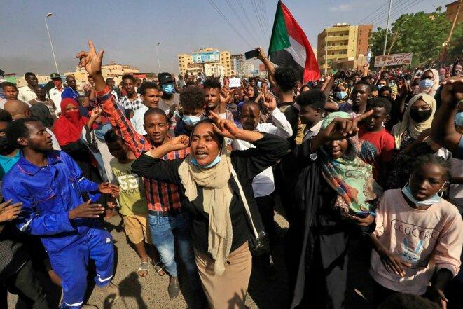 A Khartoum, le 25 octobre 2021. © Photo AFP