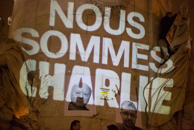 Place de la République : « Charlie-berté ! »