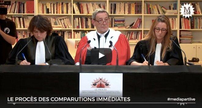 «En direct de Mediapart»: le procès des comparutions immédiates