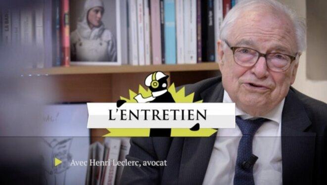 Henri Leclerc, itinéraire d'un avocat militant