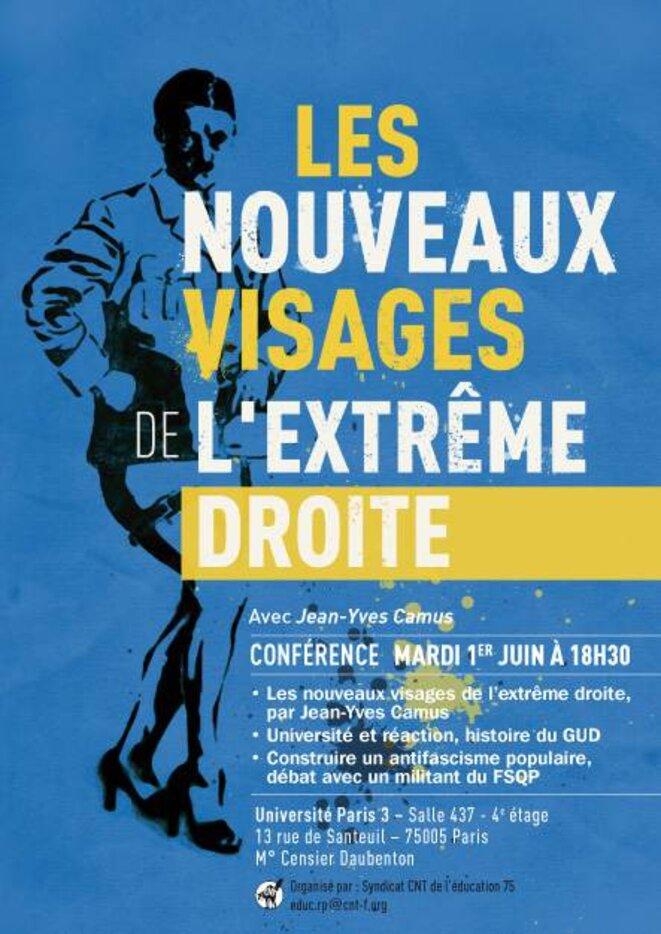 débat extrême droite fac paris 2010 © cntéducation75